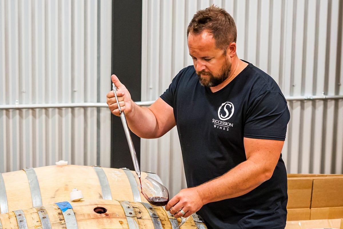 Succession-Wines-Brock-barrel-tasting