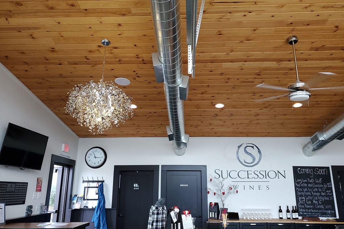 Succession tasting room interior